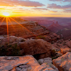 Bears Ears at sunset