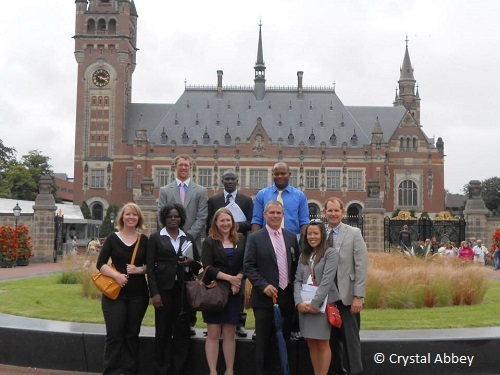 Students learning international criminal law abroad at the Nuremberg Summer Program