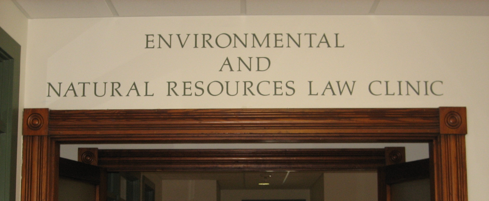 The Environmental and Natural Resources Law Clinic opening its doors in 2003
